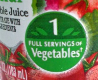 V8 1 serving vegetables