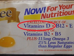 Eggs are a good source of Vitamin D