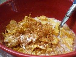 Cinnamon on cereal